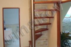 48 Vretenové nerezové schodisko