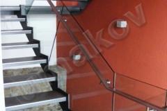 03 Sklenené zábradlie schody