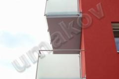 11 Zábradlie, balkón, sklo