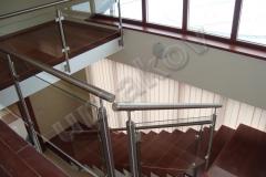 20 Stĺpikové sklenené zábradlie