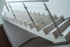 Sklenené zábradlie na schody